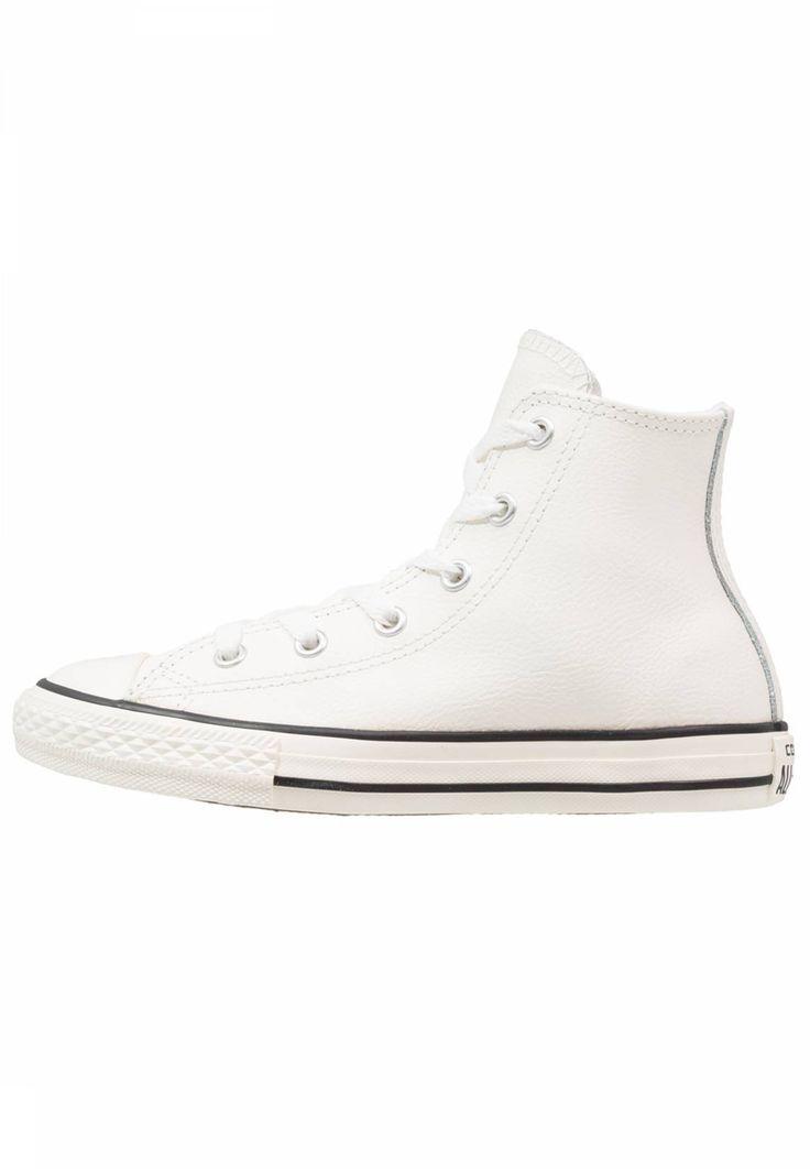 Converse. CHUCK TAYLOR ALL STAR - Zapatillas altas - egret/black. Suela:fibra sintética. Plantilla:tela. Puntera:redonda. Detalle:remaches. Estampado:unicolor. Material interior:tela. Cierre:con cordones. Material exterior:piel