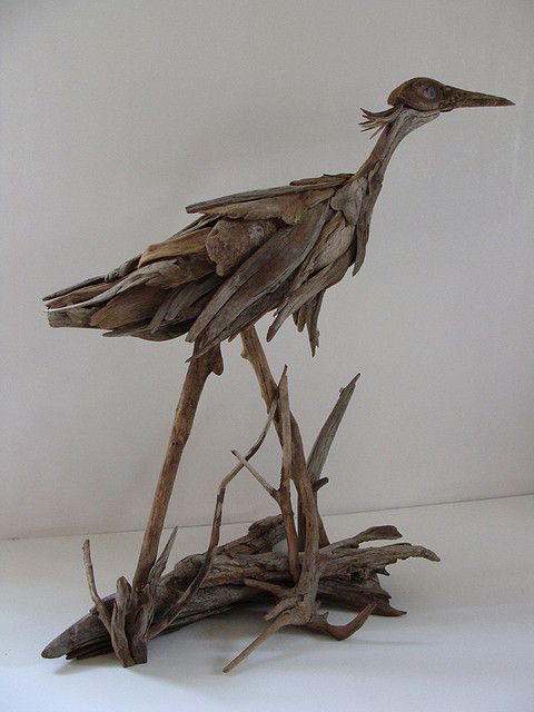 Works of art carved from river driftwood by vincent richel for How to work with driftwood