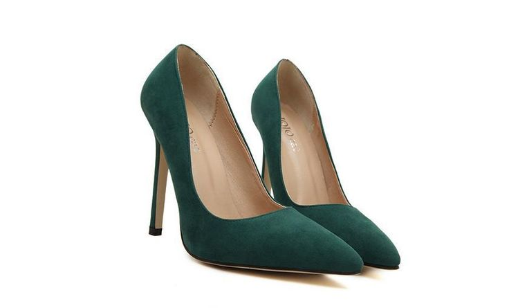 Size 35-43 Europe and The United States Pointed Shoes Thin Heel Shoes Sexy Singles Club Shallow Mouth High-heeled Pumps