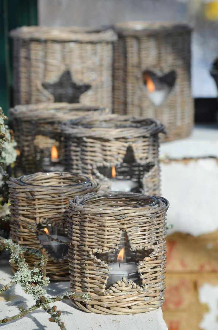 Candle Light.#Basket #wicker basket #Candle holder #Christmas basket #Christmas #Candle#creativity #idea #creative