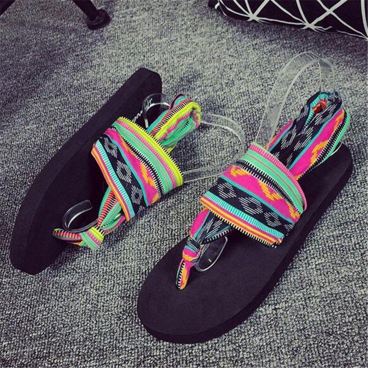 2017 Summer National Style Designer Flip Flops Beach Slides Women Shoes Casual Women Sandals Female Flat With Slides