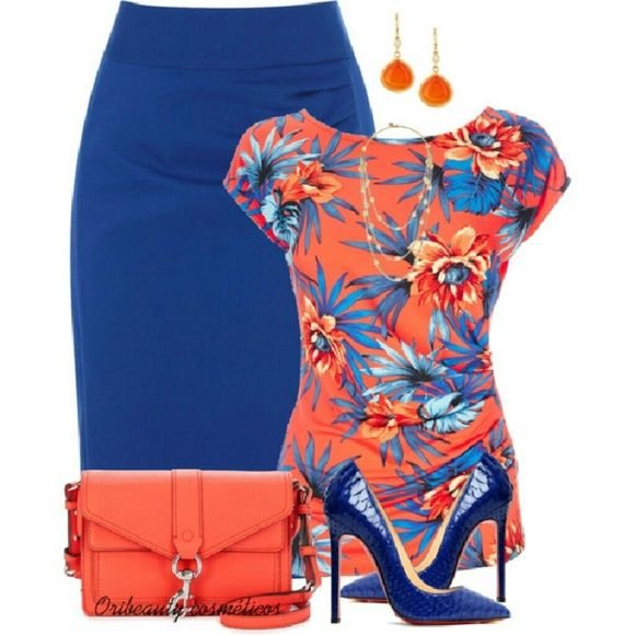✨ Royal blue pencil skirt I absolutely love this skirt I wore it a few good times and washed it but there are no issues with the skirt super cute  sophisticated! It can be paired with almost any color, blue is so versatile gotta have this classy pencil skirt! Skirts Pencil