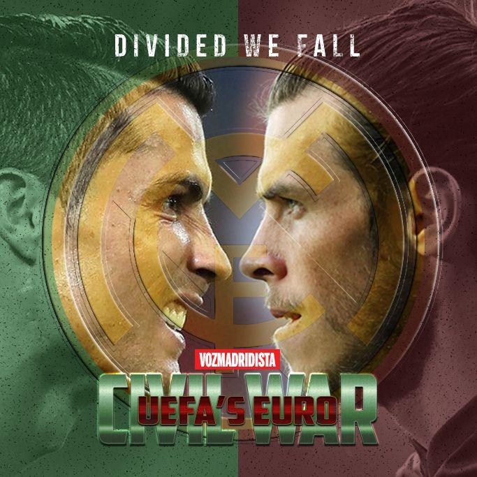 CRISTIANO RONALDO GARETH BALE CIVIL WAR - UEFA'S EURO