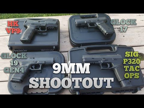9MM SHOOT OUT - SIG P320,GLOCK 17, GLOCK 19, HK VP9 - YouTube