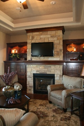 115 best images about great room on pinterest fireplaces for Prairie style fireplace