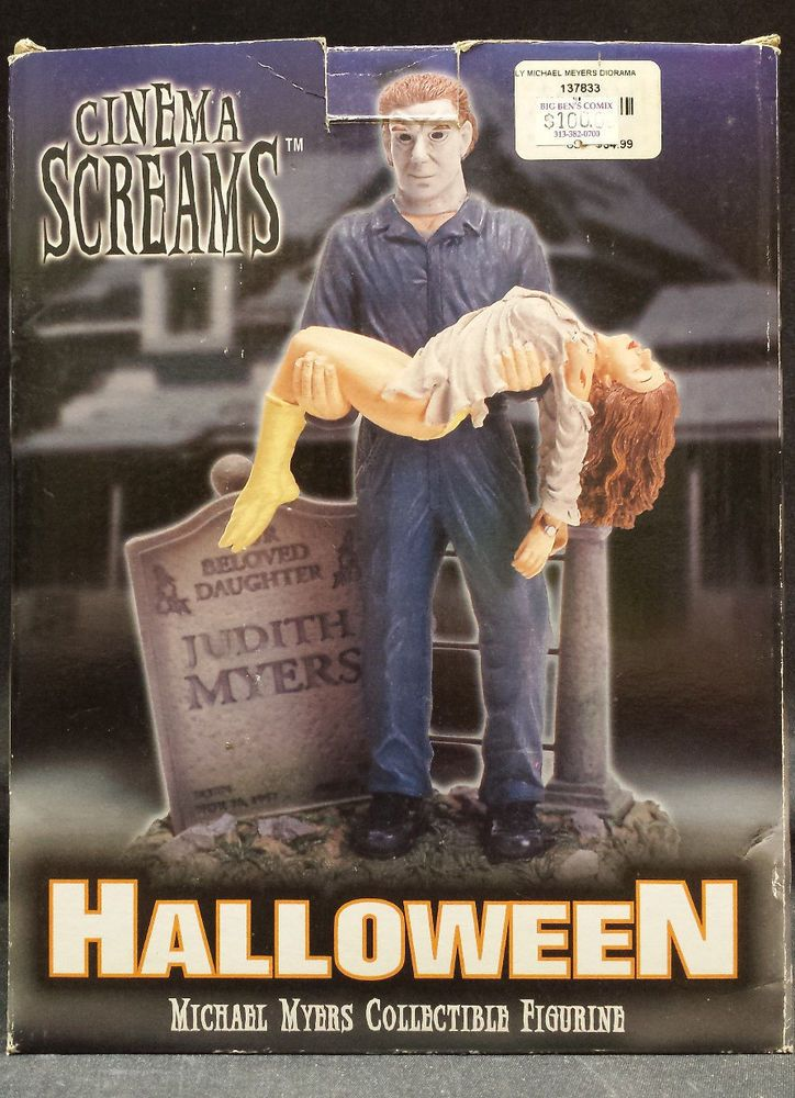 HALLOWEEN MICHAEL MYERS FIGURINE STATUE - CINEMA SCREAMS SPENCER GIFTS