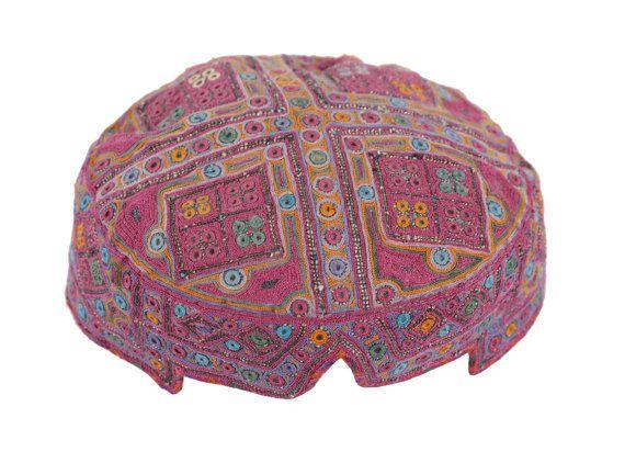5 x 22 Hat Old Handmade Afghan Hat Tribal Hat Head Wear Head Dress Ethnic Hat  - FAST SHIPMENT with ups - 07628