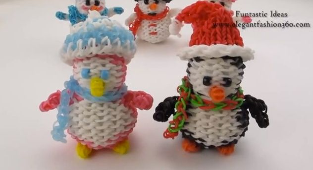 9 awesome christmas loom band charm tutorials.  Why not keep your kids busy with these fabulous and easy to follow tutorials for making Christmas charms with the loom band. They make the perfect gifts for their friends and teachers, (and will give mum and Dad an hours peace to taste-test the mulled wine!) #loombands #loombandcharms #christmasloom #christmas #diygift
