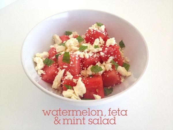 Watermelon, Feta, & Mint SaladHealth Food, Simple Salad, Watermelon Feta Mint Salad, Labor Day, Summer Salad, Blog, Bbq, Favorite Recipe, Feta And Watermelon Salad