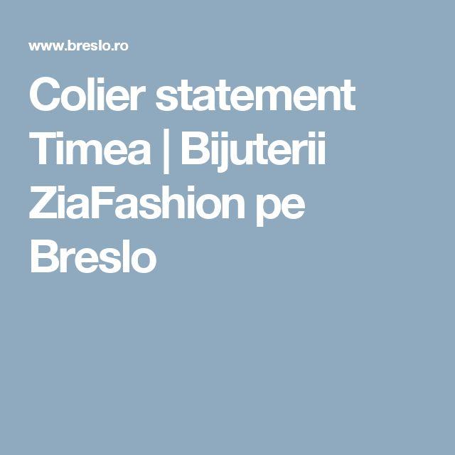 Colier statement Timea | Bijuterii ZiaFashion pe Breslo