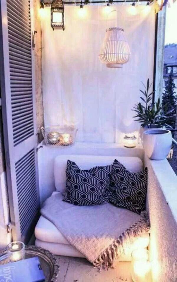 White concept terrace