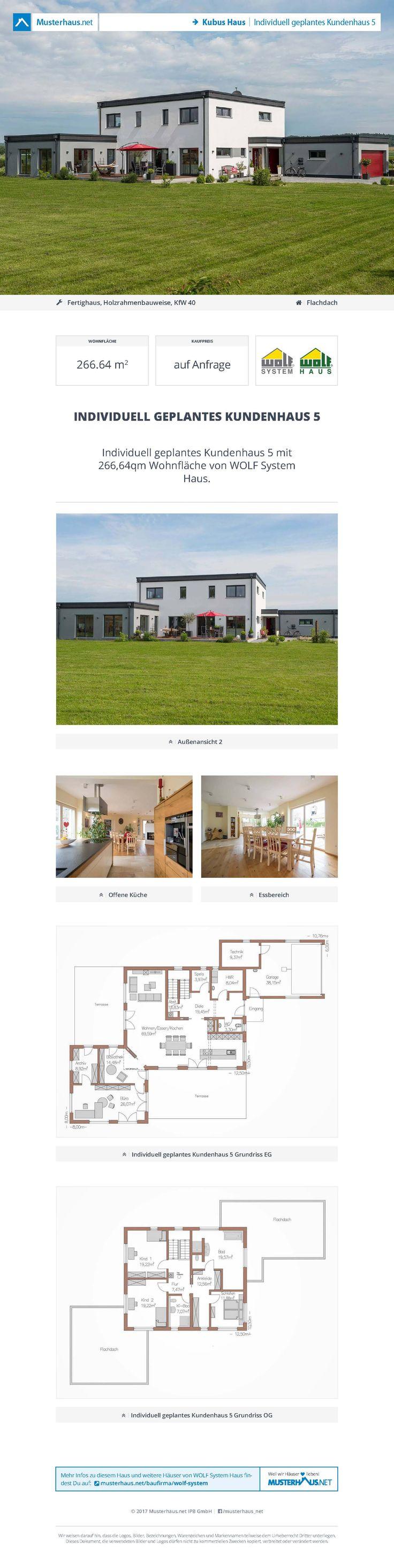Holzhaus Mit Flachdach U2022 Individuell Geplantes Kundenhaus 5 U2022 Wolf System  GmbH U2022 Jetzt Bei Musterhaus