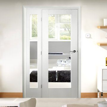Image result for glazed internal door with 2 side panels