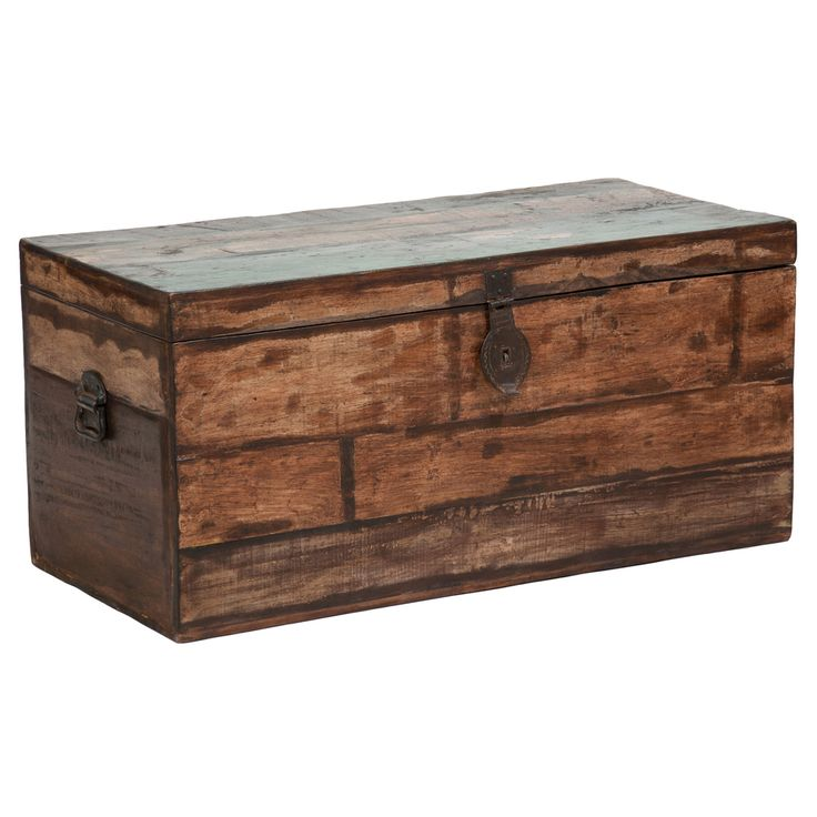 Extra Large Storage Trunk Coffee Table: Kosas Home Bali Large Recycled Wood Box By Kosas