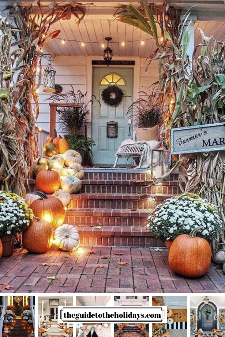 These Cute Fall Porch Ideas Are Guaranteed To Look Stunning From Memorable Doormats To Beauti Fall Outdoor Decor Fall Decorations Porch Fall Front Porch Decor