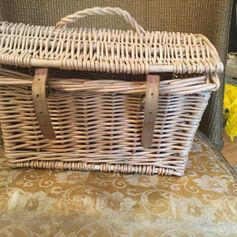 Used Woven Basket w/leather straps in SG14 Hertford for £ 8,00 – Shpock