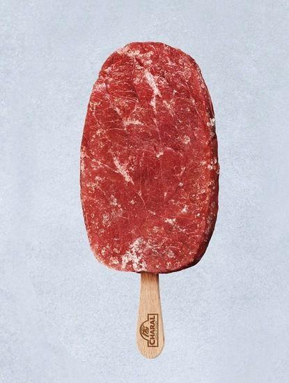 glace à la viande.