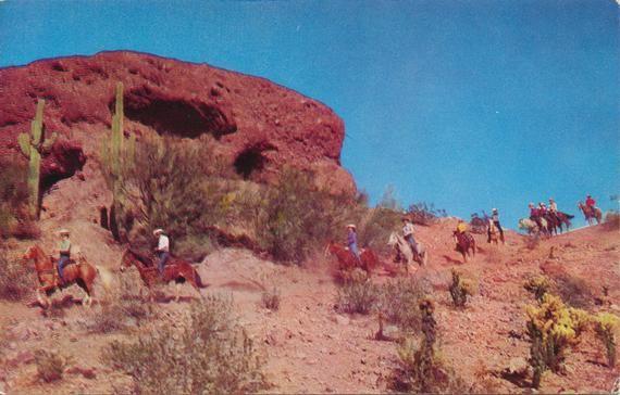 Arizona Vintage Postcard Of Papago Park In Phoenix Arizona Etsy Vintage Postcard Park Photos Postcard