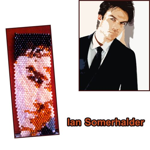 Ian somerhalder design and beaded by me