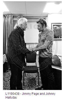 Jimmy Page NYC, Oct. 7, 2012 at the first ever NY show of Johnny Hallyday, the French Elvis, at the Beacon theater. Photo by Ross Halfin