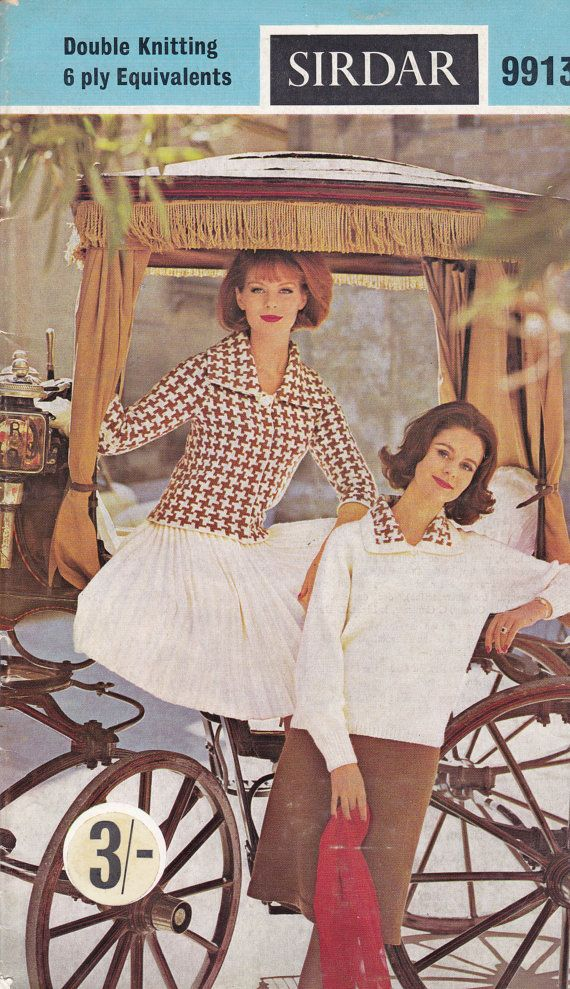 Sirdar Knitting Pattern No 9913  for Women  by jennylouvintage