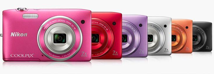 20 megapixel, obiettivo zoom grandangolare NIKKOR 7x e funzione di ripresa video HD per la nuova coloratissima S3500