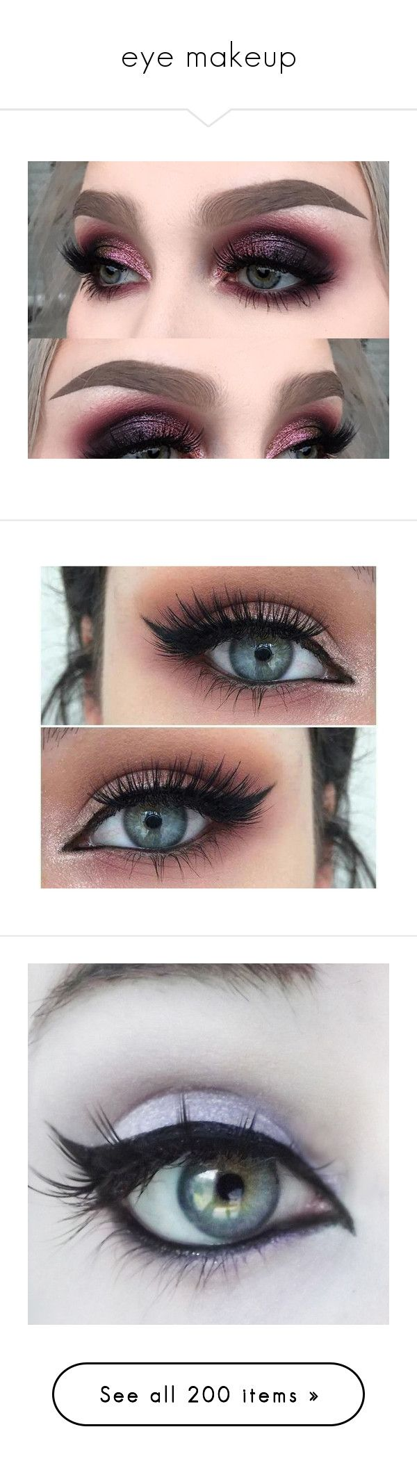 """""""eye makeup"""" by rebel-rxse ❤ liked on Polyvore featuring beauty products, makeup, eye makeup, eyes, beauty, eyeshadow, elf cosmetics, long wear eyeshadow, cosmetics and lip makeup"""
