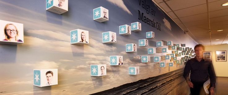 As part of the positioning of Maersk Oil in the Norwegian market, messages and campaign material are now also being fronted within the four walls of the brand.
