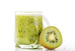 verrijkte appel-kiwi-smoothie