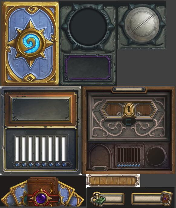 Hearthstone UI pieces