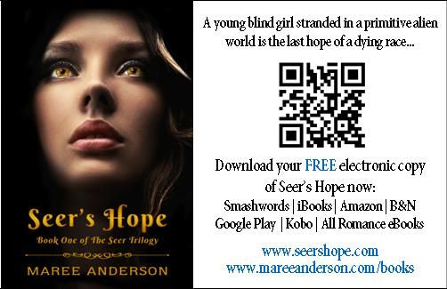 DIY book business cards: Download Seer's Hope (Book One of The Seer Trilogy) FREE!