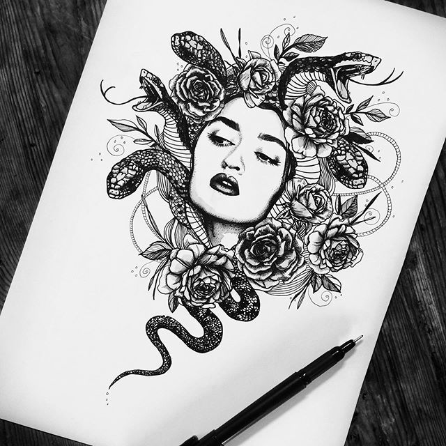 Me-dusa. The snake obsession and album artwork spree continues.  Ive recently be…