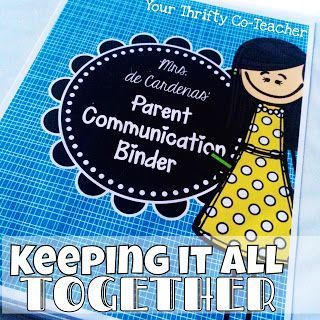 Your Thrifty Co-Teacher: Parent Communication Binder - Keeping It All Together. How to keep all parent communication organized, detailed, and in one place.
