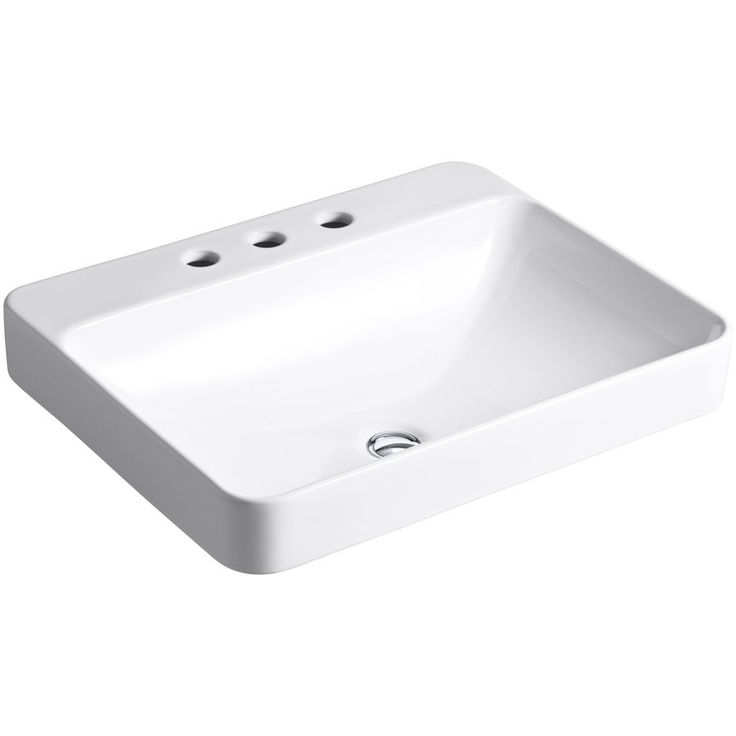 Shop Kohler KOHLER Vox White Vessel Rectangular Bathroom Sink Overflow Drain Included at Lowe's Canada. Find our selection of vessel sinks at the lowest price guaranteed with price match + 10% off.