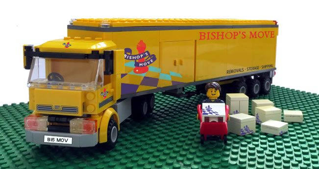 One of our removal vans in Lego!