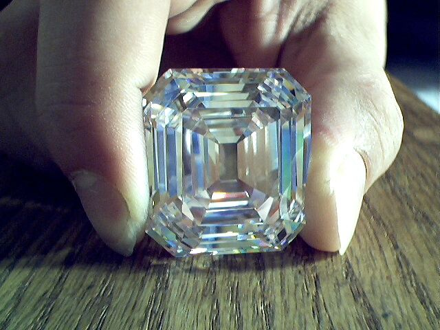 The Jonker, originally weighed 142.9 carats, cut with 66 facets. Later the proportions were changed, to impart to it a more oblong outline and greater brilliance. The stone was also flawed, apparently. It was thus reduced to a weight of 125.35 carats, cut with 58 facets. In the opinion of many who had inspected it, Jonker I is perhaps the most perfectly cut gem in existence.