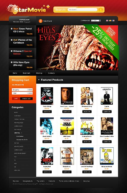 Star Movie PrestaShop Themes by Delta
