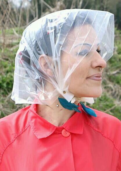 56 Best Plastic Rain Hoods Images On Pinterest