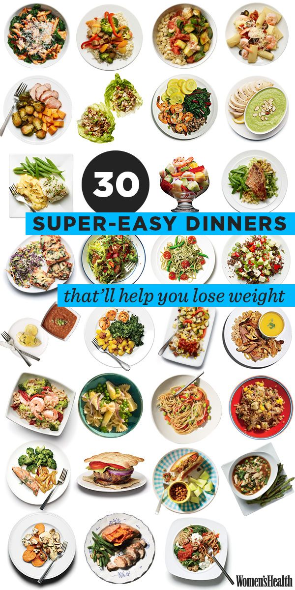 30 Easy Healthy Dinners #weightloss #organize