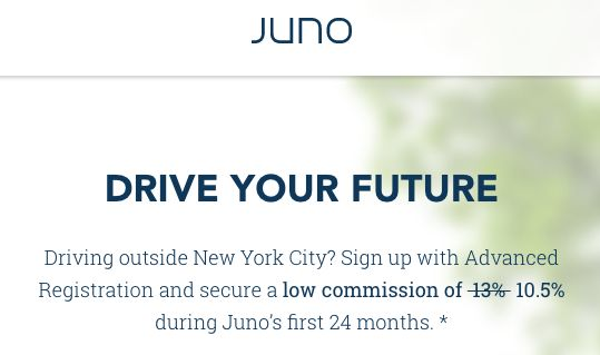 Juno Car Service Expanding - Low Driver 10.5% Commission Guarantee + 25% Off Rides NYC - http://therewardboss.com/juno-car-service-expanding-driver-10-5-commission-guarantee/