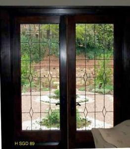 Details About Heritage Leaded Glass Patio Doors In Solid