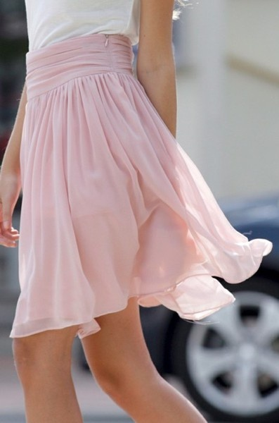 possible summer project! :): Style, Flowy Skirts, Color, Pink Skirts, Dresses, Chiffon Skirts, Summer Skirts, Cute Skirts, Ballerinas Skirts
