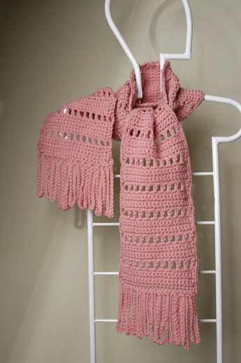 Long Scarf with Loopy Fringe. Free crochet pattern from Craft Yarn Council.