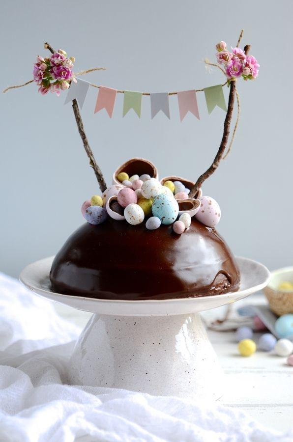 Chocolate Easter egg surprise cake #baking #surprisecakes #easter #chocolatecakes #chocolateganache #Eastereggs #bibbyskitchen #southafricanfoodbog #johannesburgfoodstylist #foodphotography #recipes
