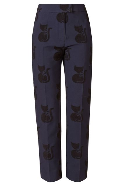 This holiday season, give the gift of fashion cred in the form of Orla Kiely trousers.--- for the awesome cat lady