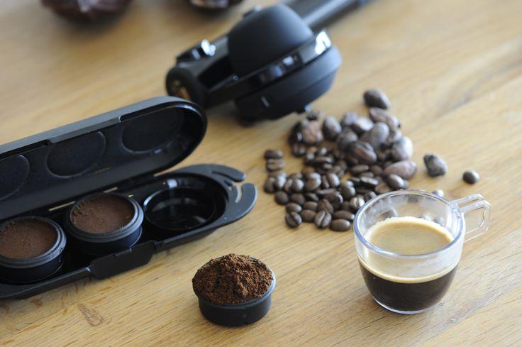 Utilisez du café moulu avec votre Handpresso Wild Hybrid !  Use ground coffee with the Handpresso Wild Hybrid.