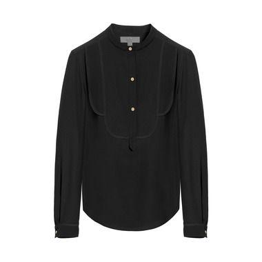 Mulberry Gift Kaleidoscope | Black - Tuxedo Shirt in Black Silk Marocaine
