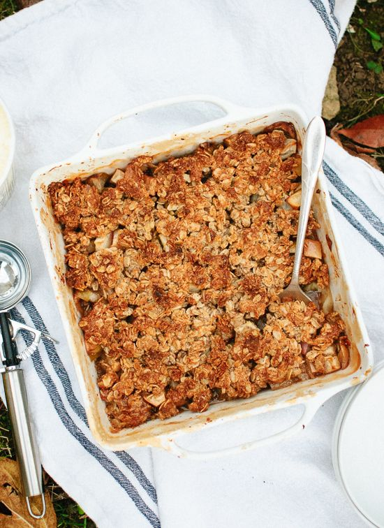 This wholesome, honey-sweetened apple crisp is covered in an irresistible oat, almond meal and pecan topping. Everyone will love this dessert!