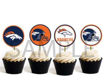 DENVER BRONCOS NFL CupCake Toppers