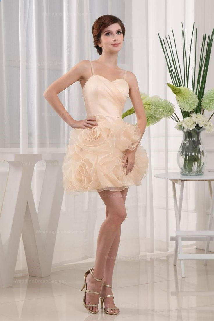 Cute Spaghetti Straps Skort Length Prom Dress With Full Of Flowers Decorate The Skirt